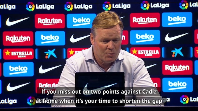 Preview image for Koeman hopes to see Barca's morale improve after Elche win