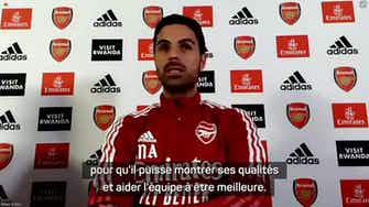 Image d'aperçu pour Arsenal - Arteta répond aux rumeurs sur Lacazette