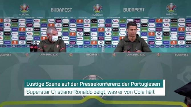 Bei Portugal-PK: Ronaldo hat keine Lust auf Cola