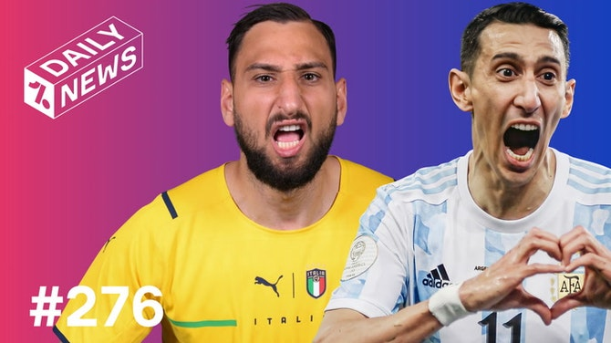 Preview image for REACTING to ITALY'S EURO 2020 win! + Messi FINALLY wins Copa America!