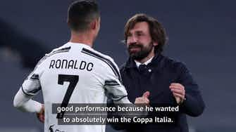 Preview image for Pirlo confident Ronaldo's future is still with Juve