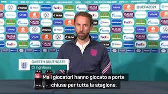 """Anteprima immagine per Southgate: """"L'Olimpico è fantastico anche senza tifosi"""""""