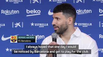 Preview image for 'I think Messi will stay' – Aguero unveiled as Barca player