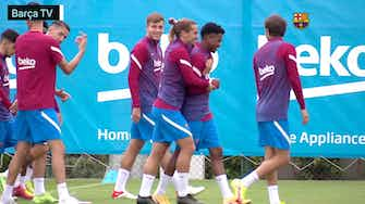 Preview image for Ansu Fati returns to Barca training