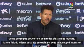 """Image d'aperçu pour 2e j. (en retard) - Simeone : """"Je ne peux pas en demander plus à mes joueurs"""""""