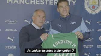 """Image d'aperçu pour Manchester City - Ederson prolonge jsuqu'en 2026 : """"Je suis très heureux ici"""""""