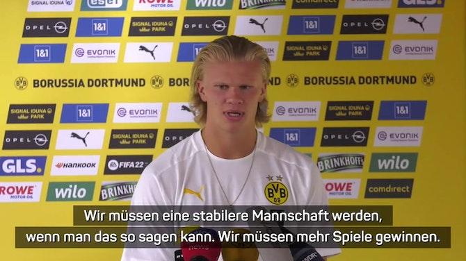 """Vorschaubild für Haaland: """"Ich glaube an Marco Rose"""""""