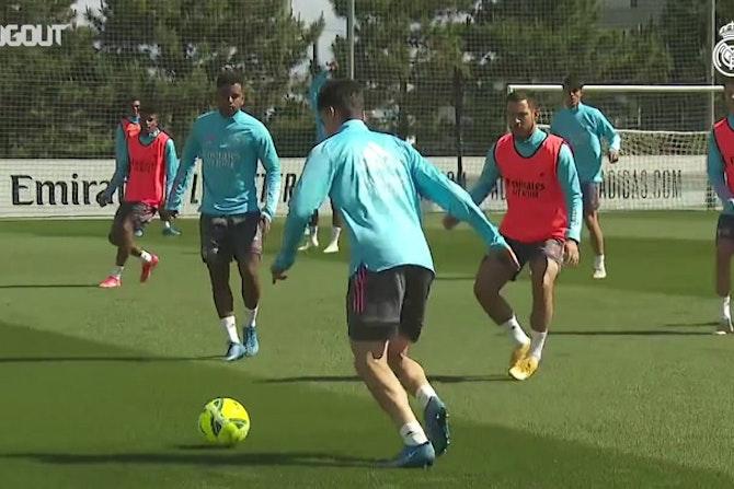 L'entrainement du Real Madrid avant le déplacement à Grenade