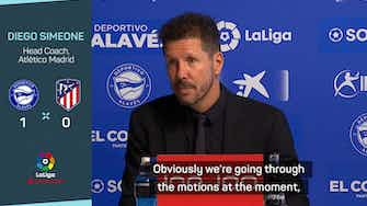 Preview image for Simeone takes responsibility for misfiring Atletico