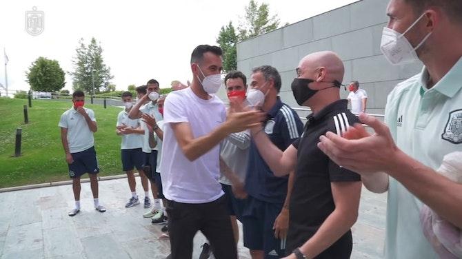 Sergio Busquets se reincorpora a la concentración de la selección española