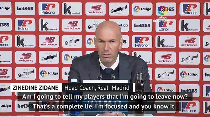Zidane angrily denies he's told Real players he'll leave