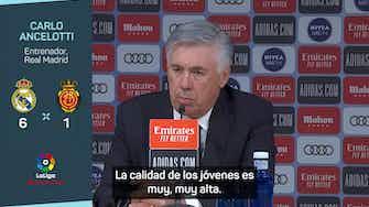 """Imagen de vista previa para Ancelotti: """"Asensio, Isco, Jovic... es una buena señal para la plantilla"""""""
