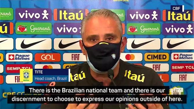 Tite's Brazil prepare to play on despite Copa America objections