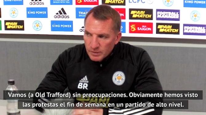 Rodgers no teme la visita a Old Trafford