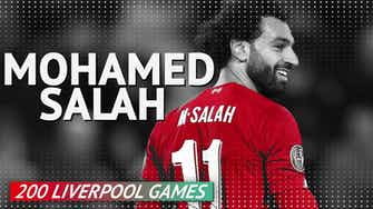 Preview image for Mohamed Salah - 200 Liverpool Games