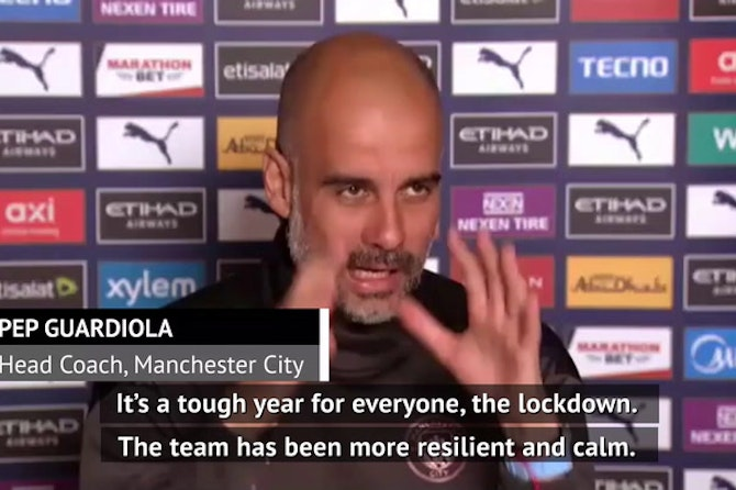 Lockdown makes City achievements more special - Guardiola