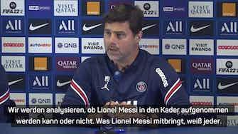 """Vorschaubild für Pochettino: """"Messi könnte in Kader kommen"""""""