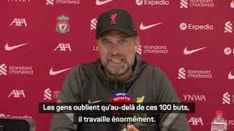 """Image d'aperçu pour 5e j. - Klopp sur le 100ème but de Mané avec Liverpool : """"Un exploit massif"""""""