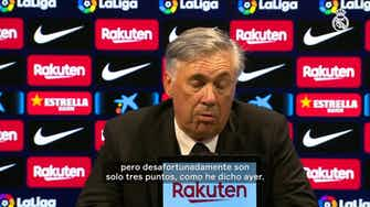 Imagen de vista previa para Carlo Ancelotti: 'Estoy feliz por ganar, El Clásico es el partido más importante'