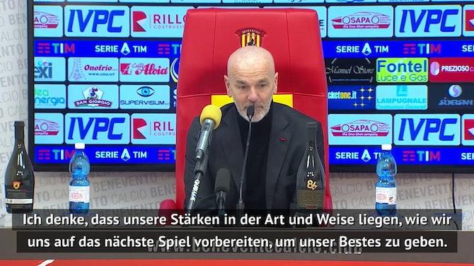 """Vorschaubild für Milan auf Platz 1: Pioli: """"Kämpfen um den Titel"""""""
