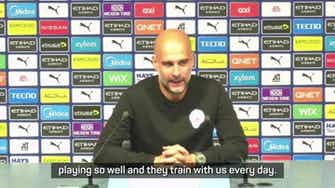 Preview image for Guardiola 'loves' seeing Man City's academy players given an opportunity