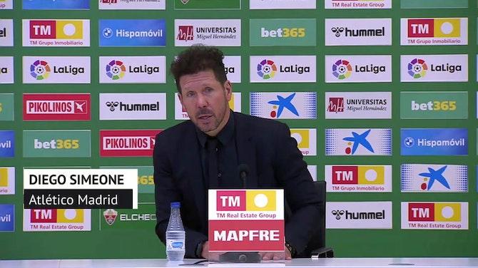 """Simeone, en titulares: """"Cada victoria es importantísima"""""""