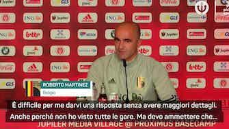 """Anteprima immagine per Belgio, Martinez: """"Impressionante vedere come gioca l'Italia"""""""