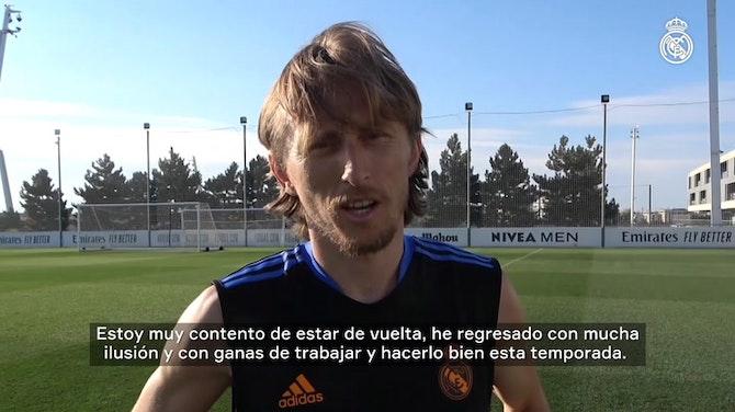 Imagen de vista previa para Luka Modrić: 'Vuelvo con mucha ilusión y con ganas de trabajar y hacerlo bien esta temporada'
