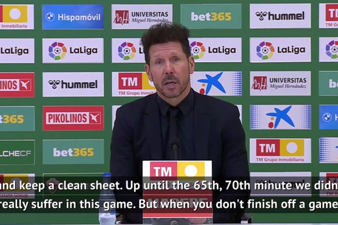 Simeone praises Atletico 'mental strength' as they beat Elche