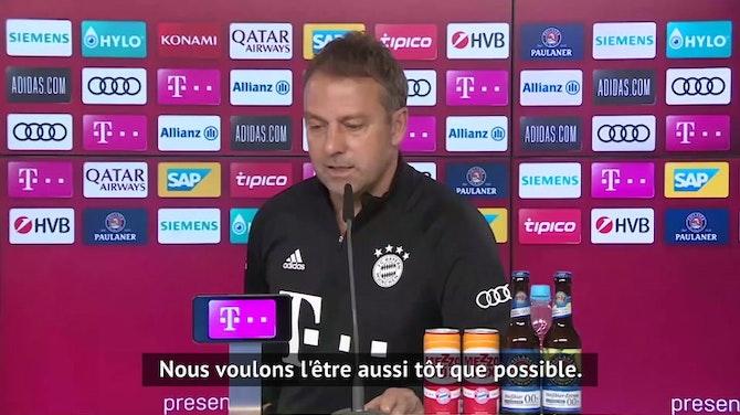 """Image d'aperçu pour 31e j. - Flick : """"Lewandowski est de retour, mais être champion reste le plus important"""""""