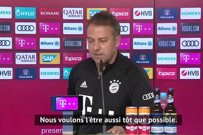 """31e j. - Flick : """"Lewandowski est de retour, mais être champion reste le plus important"""""""