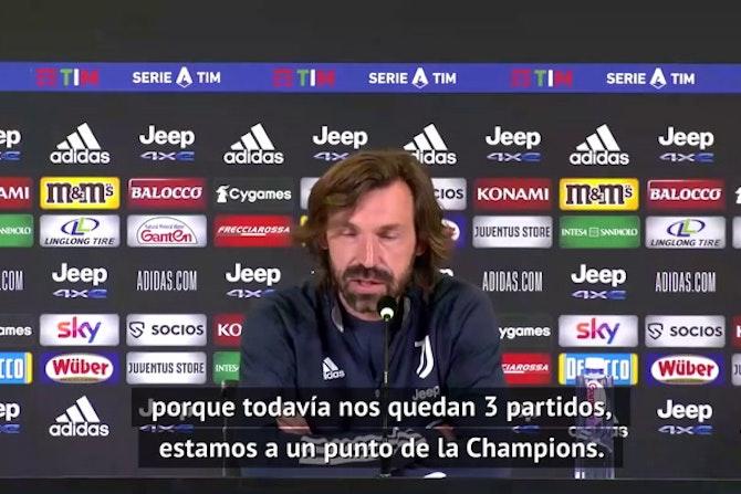 """Pirlo no quiere que sus jugadores bajen los brazos: """"Todavía podemos entrar a la Champions"""""""