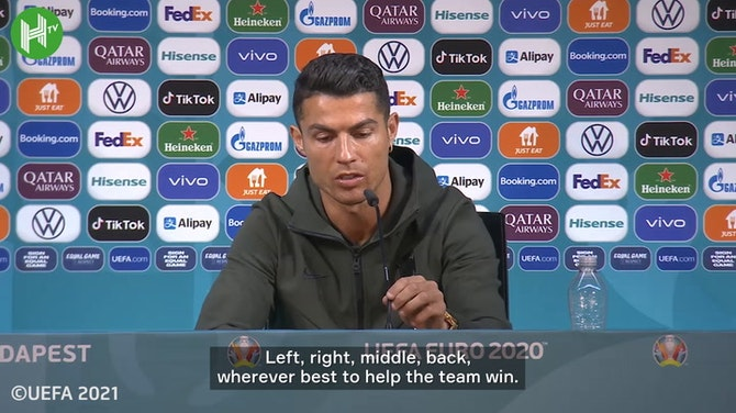 Ronaldo on positional options ahead of Portugal's debut in Euro