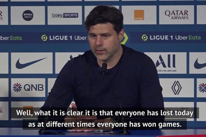 Pochettino refuses to blame PSG individuals after Lille defeat