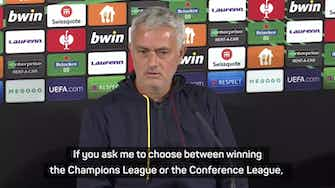 Preview image for Mourinho committed to winning new Conference League with Roma