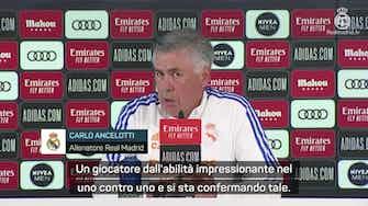 """Anteprima immagine per Ancelotti e Vinicius: """"Non sono un mago, lui è forte"""""""