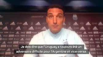 """Image d'aperçu pour Argentine - Scaloni se méfie de l'Uruguay, un """"adversaire toujours difficile"""""""
