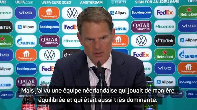 """Image d'aperçu pour Pays-Bas - De Boer : """"Nous pouvons être fiers"""""""