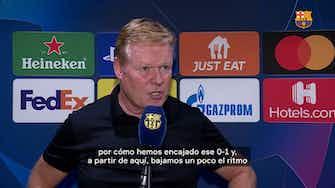 "Imagen de vista previa para Ronald Koeman: ""Bajamos el ritmo después del primer gol"""