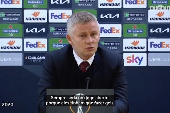 Solskjaer diz que Manchester United chegou à final por causa de Cavani