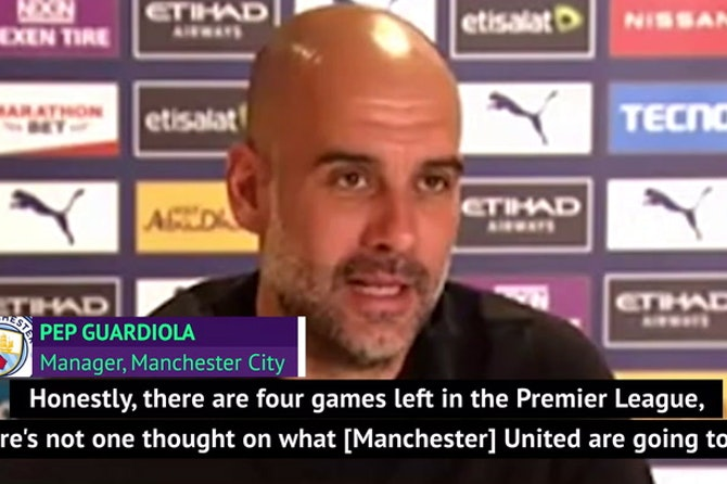 Guardiola focusing on Premier League title instead of Champions League glory