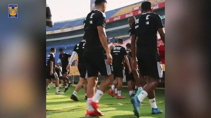 Imagen de vista previa para Gignac y Thauvin se reincorporan a los entrenamientos de Tigres