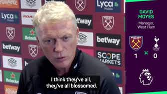 Preview image for West Ham are 'blossoming' - Moyes