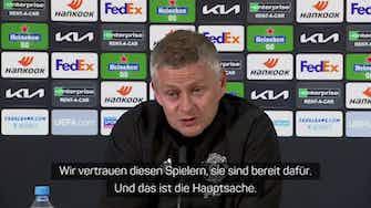"""Vorschaubild für Solskjaer vor EL-Finale: """"Spieler sind bereit"""""""