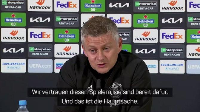 """Solskjaer vor EL-Finale: """"Spieler sind bereit"""""""