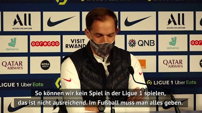 """Vorschaubild für Tuchel tadelt PSG-Stars: """"11 Individualisten"""""""