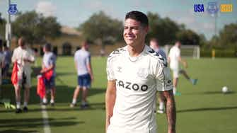 Preview image for James Rodríguez and Everton stars train in Florida