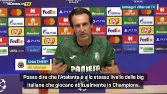 """Anteprima immagine per Emery: """"Atalanta forte come Inter, Milan, Juve e Napoli"""""""