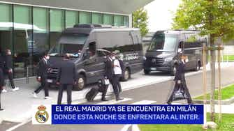 Imagen de vista previa para El Real Madrid ya está en Milán