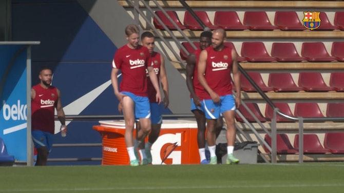 Vorschaubild für Sergio Busquets, Martin Braithwaite and Jordi Alba back for Germany trip